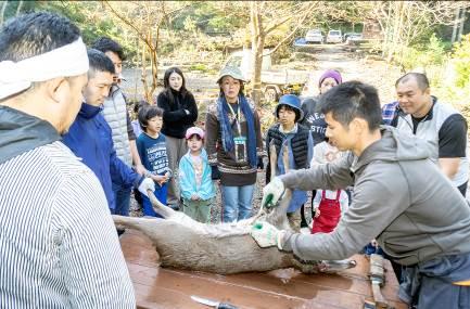 平成30年度 第2回青年スキルアップセミナー/鹿の解体・組織観察とバーベキュー